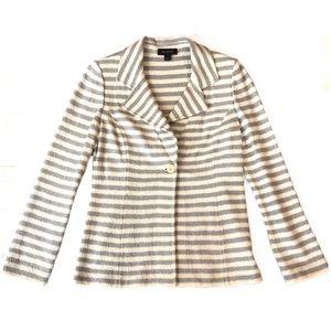 St. John oyster & grey striped jacket